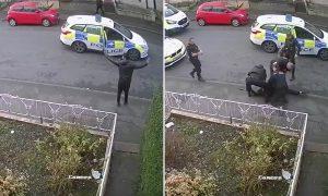 İngiliz polisi teslim olan şüpheliyi darp ederek gözaltına aldı