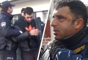 İngiliz turiste Taksim'de meydan dayağı