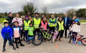 MP Feryal Clark visited the London Cycling Club