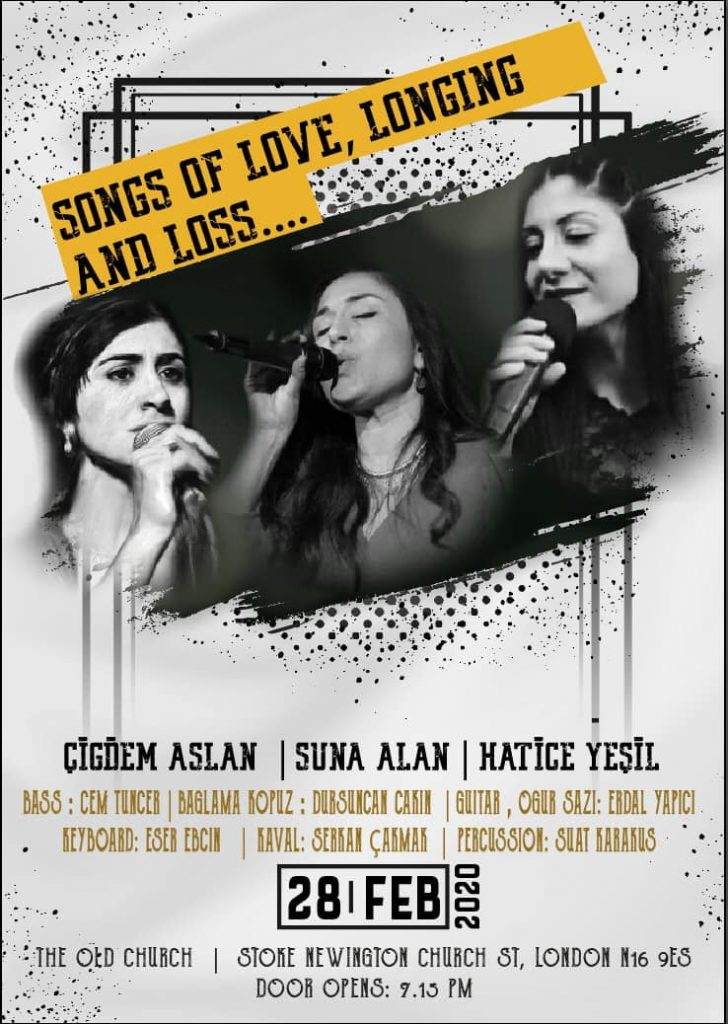 """""""Songs of Love, Longing and Loss"""" an multicultural concert in London"""