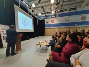 Dr Teoman Sırrı gave an obesity conference in South London