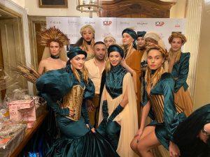 Fashion designer Tuncer Tonun takes part in charity show