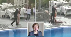 Karantina kurallarını ihlal ederek havuza giren kadın İşçi Partili siyasetçi çıktı