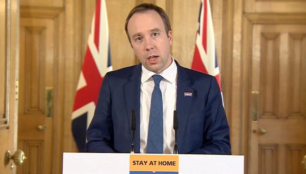 İngiltere Sağlık Bakanı Matt Hancock'ta da Koronavirüs çıktı