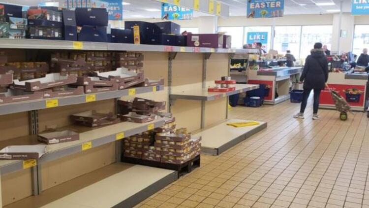 İngiltere'de marketlerden Koronavirüs önlemi
