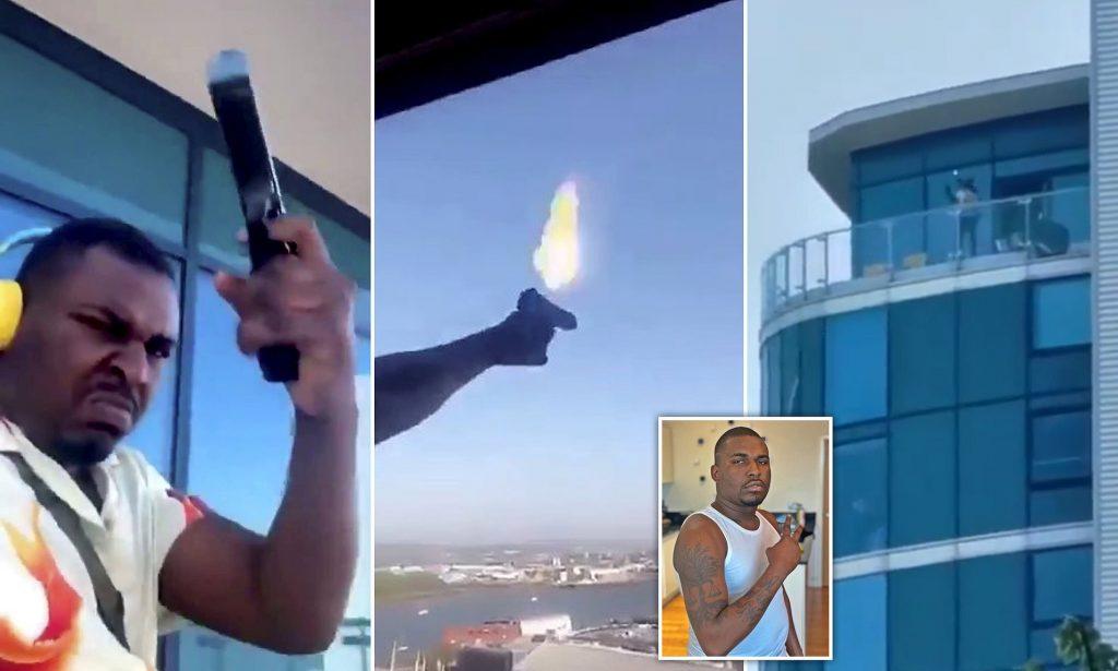 Evinin balkonundan etrafa ateş açan kişi polisin iknaları sonucu gözaltına alındı