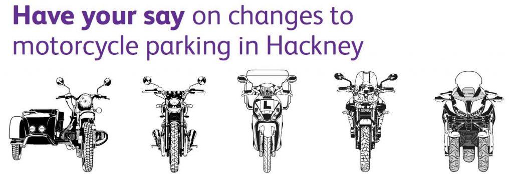 Hackney Belediyesi motosiklet park kuralları hakkında görüşlerinizi bekliyor