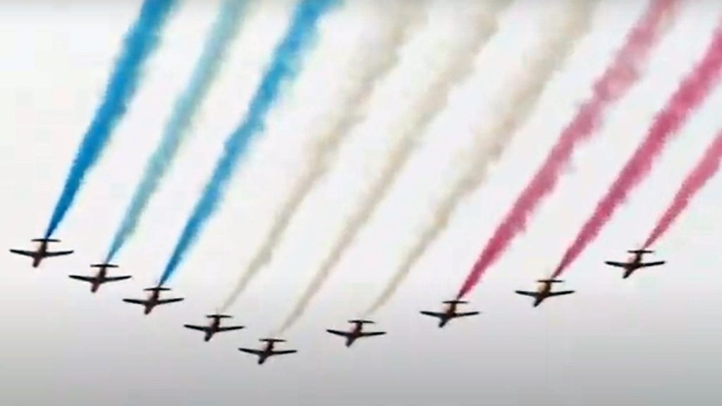 Flypast over London as the UK marks the 75th anniversary of VE Day