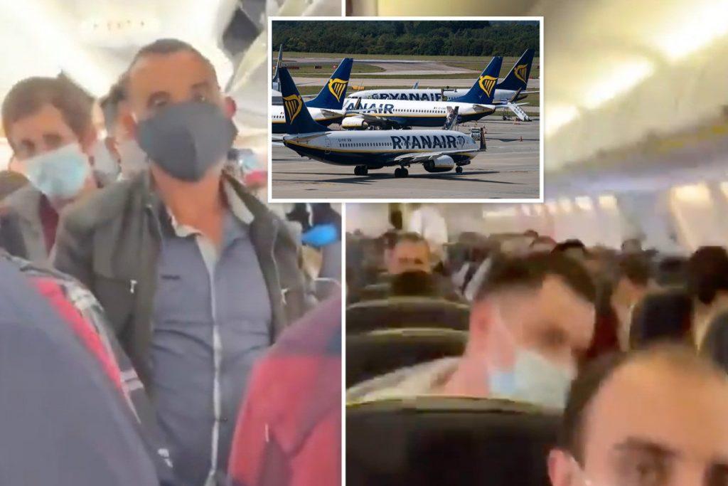 Londra Lizbon uçuşunda sosyal mesafe tepkisi