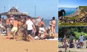 Viking Bay plajında sosyal mesafe tartışması kavgayla bitti