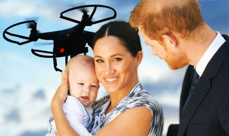 Meghan Markle ve Prens Harry çifti drone ile taciz ediliyor