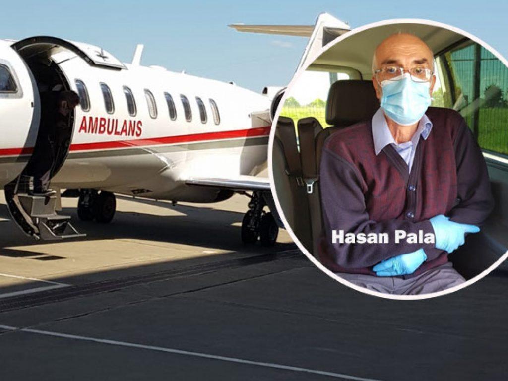Kalp hastası toplum üyemiz ambulans uçakla Türkiye'ye gönderildi