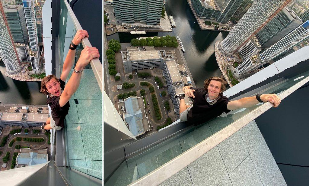 """Londra'da 550 metre yükseklikte ölümle dans eden gence """"profesyonel aptal"""" yakıştırması"""