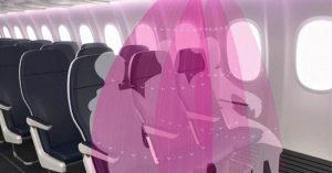 Uçak yolculukları için yeni korona virüs tasarımı