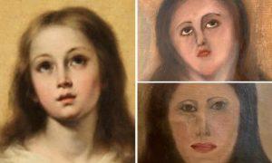 17. yüzyıldan kalma Meryem Ana tablosu tanınmayacak hale getirildi