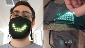 İngiliz oyun tasarımcısından LED ışıklı maske