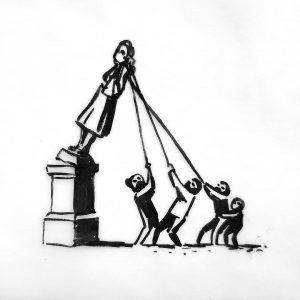 Banksy'den köle taciri Edward Colston çizimi