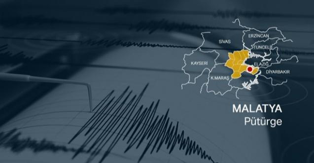 Malatya'nın Pütürge ilçesinde en az 5 büyüklüğünde deprem