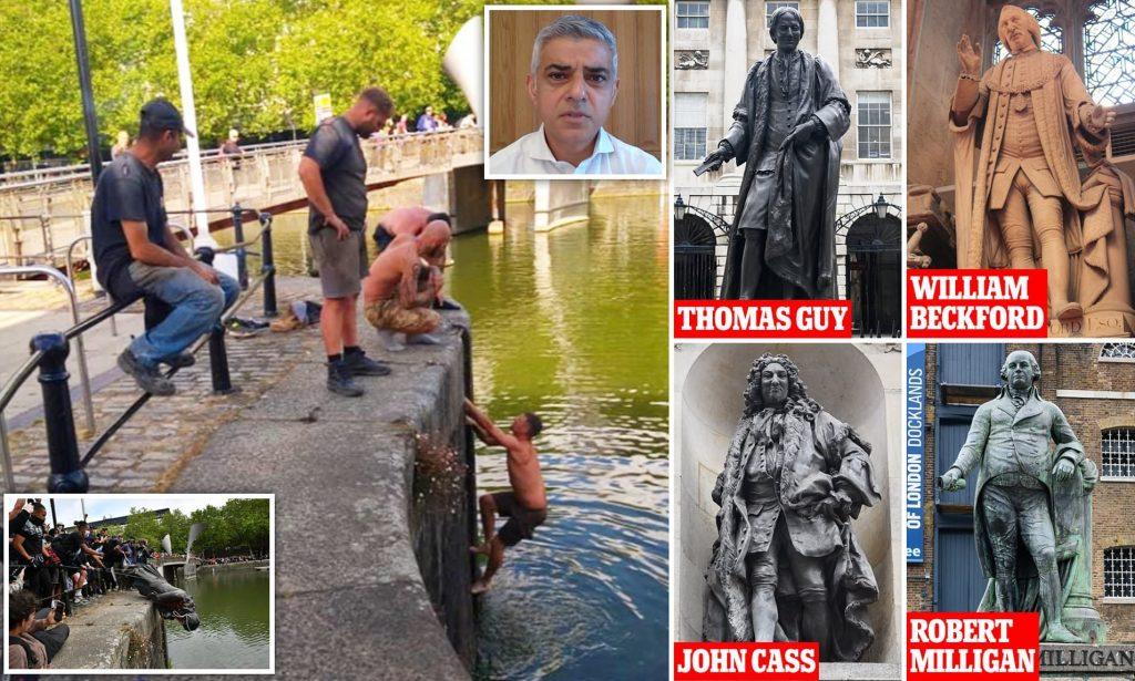 Sadiq Khan düğmeye bastı: Londra'daki tüm heykeller tek tek incelenecek