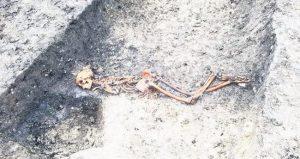 2500 yıllık cinayet, hızlı tren kazısında ortaya çıktı