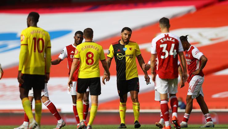 Arsenal kazandı, Watford Premier Lig'den düştü