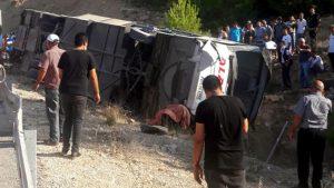 Mersin'de kahreden kaza: 2 otobüs şoförü ile 4 asker şehit oldu