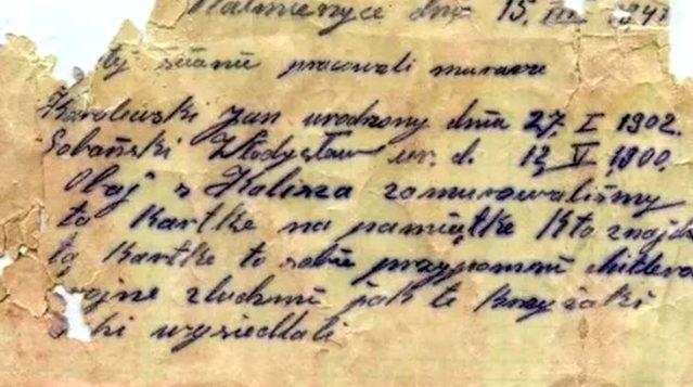 Polonya'da tren garında şişeye gizlenmiş İkinci Dünya Savaşı'na ait mektup bulundu