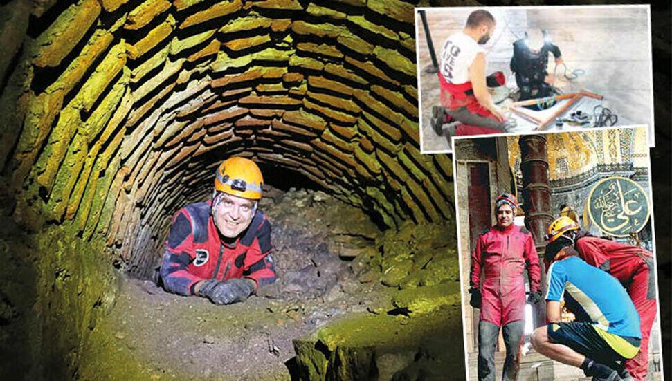 Ayasofya'da yeraltı menfezleri 3 boyutlu tarandı: 'Çok büyük mekanlar var'