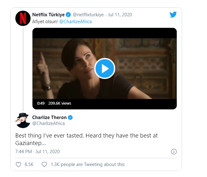 """Charlize Theron: Bakalava is the """"best thing I've ever tasted"""""""