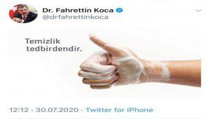 TC Sağlık Bakanı Koca tweetini silmek zorunda kaldı