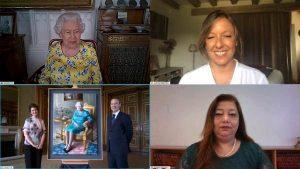 Kraliçe Elizabeth, yeni tablosunun açılışına internetten görüntülü katıldı