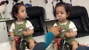 Küçük çocuğa babası olduğu iddia edilen kişi sigara içirdi