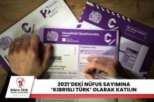 """KTGAB: """"2021'deki nüfus sayımına 'Kıbrıslı Türk' olarak katılın"""""""