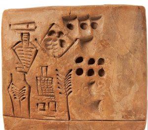 Tarihteki 'ilk imzayı' içeren 5 bin yıllık tablet satıldı