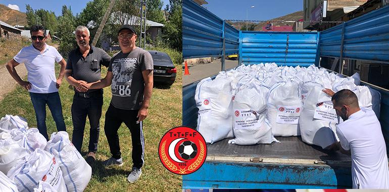 TTFF'den, Karlıovalı depremzede ailelere destek