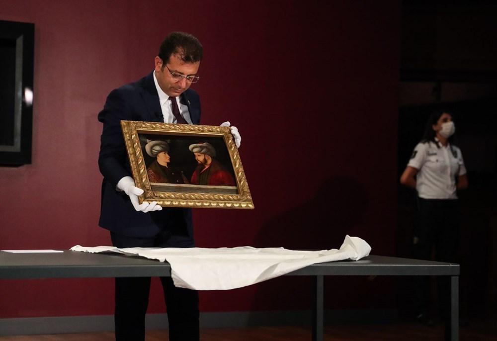 Tarihi Fatih Sultan Mehmet tablosu görücüye çıktı