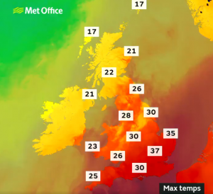UK is set to heat up with blistering heatwave