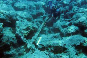 Antalya'da Osmanlı savaş gemisi batığı bulundu