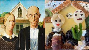 Pandemi boyunca yediği tostlardan sanat eserleri yarattı