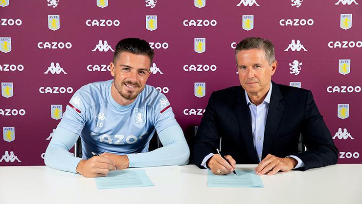 Aston Villa, Jack Grealish'ı 5 yıllığına kadrosuna kattı