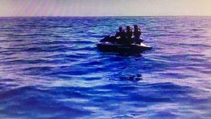 Jet ski ile Yunanistan'a kaçmaya çalışırken yakalandılar