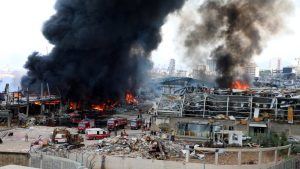 Beyrut limanında büyük yangın
