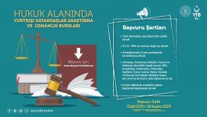 YTB yurtdışında hukuk eğitimi alan gençlere burs veriyor