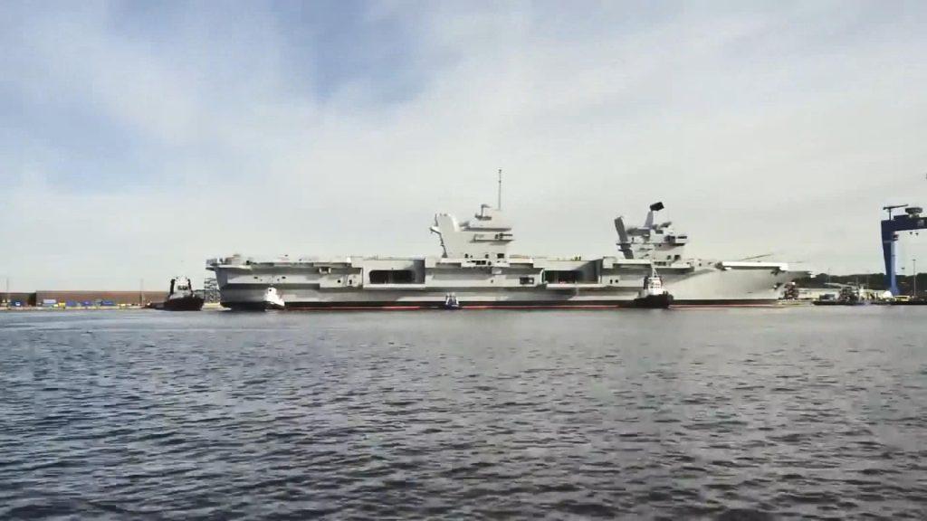 İngiliz uçak gemisinin yolculuğu koronavirüs nedeniyle ertelendi