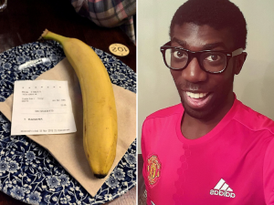 Racist ordered to pay victim £1,200 after sending him a banana at Wetherspoons