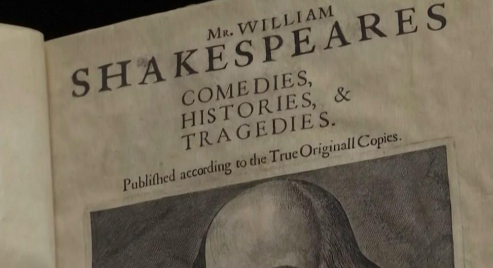 William Shakespeare'in kitabına 10 milyon dolara satıldı
