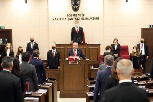 KKTC'de yeni Cumhurbaşkanı Ersin Tatar ant içti