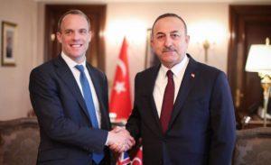 İngiltere Dışişleri Bakanı Dominic Raab, Çavuşoğlu ile görüştü