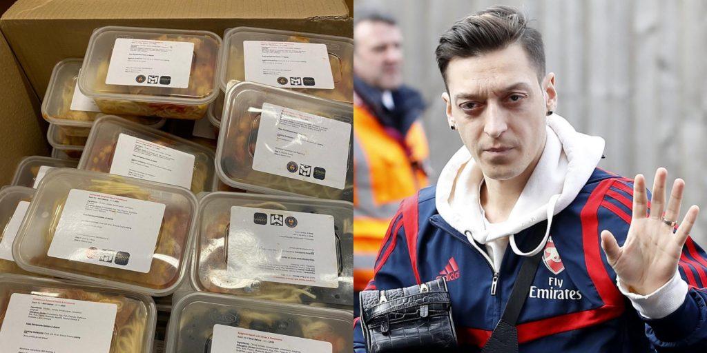 1,400 öğrencinin öğle yemeği Mesut Özil'den
