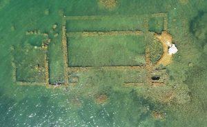 2 bin yıllık bazilikanın bir kısmı gün yüzüne çıktı